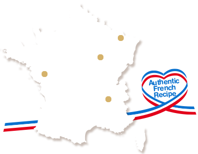 France map with our production sites positions